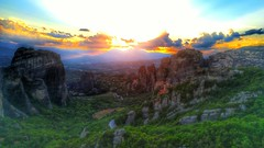 Sunset Over Canyon (Trips with Tripa) Tags: sunset canyon greece meteora hills monastery orthodox mountains landscape