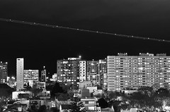 Aproximacin a Buenos Aires (Santiago Sito) Tags: longexposure city urban ciudad architecture arquitectura edificio noche nocturna night luz plane avion aterrizaje landing lighttrail