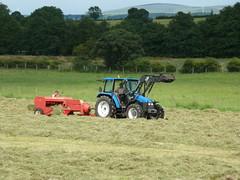 Jones Baler & Ford New Holland Tractor (K Garrett) Tags: new ireland tractor holland green ford field wales jones countryside dragon farm fields ac mk baler chalmers allis baling 10t