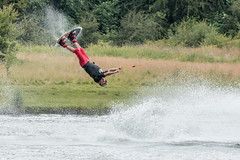 Wakeboarder (Andrew_Leggett) Tags: wakeboarding jump water face expression oops oh woah funny comic rothervalley timing outdoor