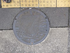 Kawagoe manhole (Stop carbon pollution) Tags: japan 日本 honshuu 本州 saitamaken 埼玉県 manhole kantou 関東