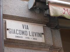 Via Giacomo Luvini, Lugano - road sign (ell brown) Tags: lugano switzerland ticino italianlakedistrict lakelugano lagodilugano glaciallake luganocentro viagiacomoluvini sign roadsign sindaco