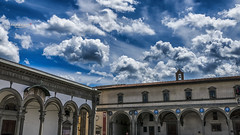 The sky can't wait... (Tra Te E Me (TTEM)) Tags: lumixfz1000 hdr photoshop raw italie italy toscane tuscany florence firenze ciel sky nuages clouds toits roof architecture bleu blue