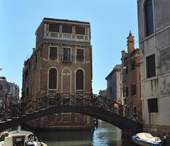 DSC_0025 (bikerchisp) Tags: venice italy ital italia venise canals lagoon bridges gondola holiday vacation europe adriatic sea water waterways streets blue sky bluesky sunshine bikerchisp