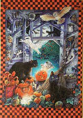 Halloween with Lesley's Cats - Wentworth - 250 Teile (.Francine) Tags: puzzle holz tier katze halloween whimsy