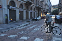 Evening commute, Milano (pantoniades) Tags: bicycle commuter italy milan velo