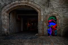 Bodies in urban space (ramerk_de) Tags: hdr regensburg art upperpalatinate bavaria haidplatz