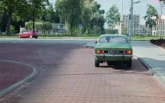 Red vs Green (Arne Kuilman) Tags: canon 500n analogue film scan kodak 4009 kodacolor epson zeeland nederland netherlands opel kadett car auto classic taillight achterkant