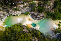 Secret Place. (arturii!) Tags: wow amazing awesome superb interesting stunning impressive nice beauty great arturii arturdebattk canonoes6d gettyimages travel trip tour route viatge holidays vacations secret place hidden summmer summertime coolingoff nature natura landscape pools green river drone flying up view aerial cool heat pyrenees pirineus catalonia catalunya spain creek riu verd people boy swimming bath bassa dji alone mountains