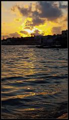 Tramonto @Marina di Ragusa (brunombo) Tags: samsunggalaxys6 samsung galaxy s6 marina ragusa marinadiragusa spiaggia beach riflessi sunset water sea sky outdoor sicily sicilia italia italy
