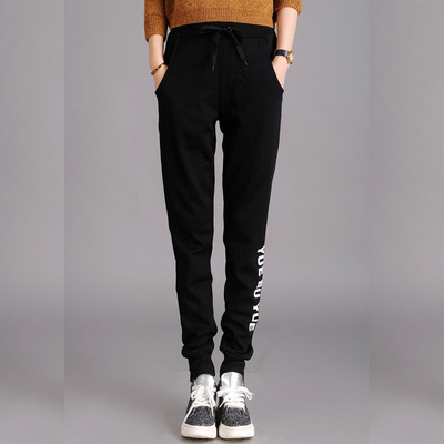 2016 Summer thin sweatpants pants plus size feet cotton harem pants slim leisure Korean sports medical pants