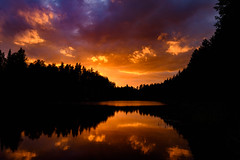 The lake (Rico the noob) Tags: night landscape sunset nature water outdoor 2016 clouds trees tree travel forest golden published sky reflection finland d500 lake 1835mmf18 beacheslandscapes