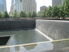 World Trade Center Memorial Fountains 2016 NYC 4360 (Brechtbug) Tags: 911 memorial fountain lower manhattan 2016 nyc footprint world trade center wtc ground zero september 11 2001 downtown new york city 2011 fdny public monument art fountains 08272016 foot print freedom tower today west skyscraper building buildings towers reflection pool water falls waterfalls wall walls pools tier tiered 15 years fifteen five