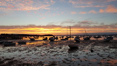 Sunset over Poole Harbour - taken with Samsung Galaxy S6 Edge+ (Madmatteo1) Tags: sandbanks samsung galaxy s6edge poole harbour smartphone view sunset dorset boat boats sea