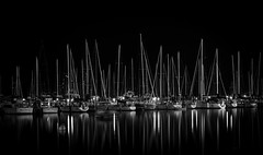Black Lagoon Reflect (R. Wozniak) Tags: milwaukee blackwhite bw blackandwhite lakemichigan longexposure ships boats nikond750 nikon 3570mm 28
