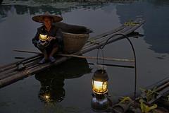 ab_SHS6018 (shamshahrin) Tags: china sunset people river landscape asian li fishing fisherman scenery asia photographer guilin culture lifestyle bamboo malaysia raft prc lijiang photojournalist imagemaker shamshahrin shamsudin