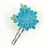 Blue Kiki (Wisteria Gardens) Tags: flower hair pin brooch silk jewelry maiko hana tsumami kanzashi florral zaiku