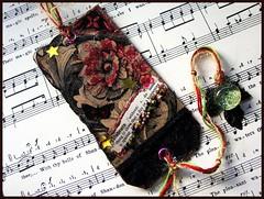 Celebrate (Ravensmagiclantern) Tags: scrapbooking mixedmedia journal bookmark alteredart arttag vintageephemera