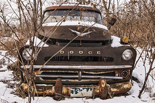Old, rusty and abandoned