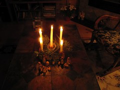 christmas eve 1 (withrow) Tags: christmas candles adventwreath creche