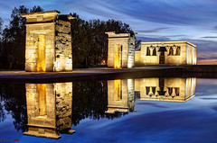 Templo de Debod, Madrid (german_long) Tags: madrid longexposure espaa night spain nightshot bluehour 1001nights debod templodedebod earthnight