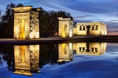 Templo de Debod, Madrid (german_long) Tags: madrid longexposure españa night spain nightshot bluehour 1001nights debod templodedebod earthnight