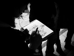 Laocoonte (Simone De Iuliis) Tags: street light portrait bw italy white black vatican rome roma photography amazing artist drawing weekend streetphotography vaticano fujifilm museo draw vaticanmuseum x20 museivaticani mostre fujifilmx20