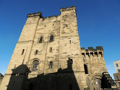 One castle and the suggestion of another building (Shahrazad26) Tags: uk greatbritain shadow england castle newcastle unitedkingdom chateau schloss schaduw schatten engeland kasteel grootbritanni