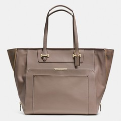 Coach Taylor Leather with Suede Large Fashion Tote Handbag (C1000)  (s kenwald1) Tags 3affe824b5