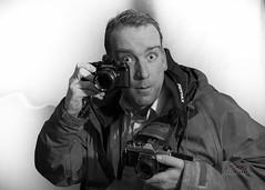December 21: Happy Selfie  Sunday (_Matt_T_) Tags: winter bw pentax k1000 selfie mesuper cameraporn smcpk55mmf20 smcpm85mmf20 smcpk35mmf35 k5iis singlechallenges sidec2014 filmshootersrule