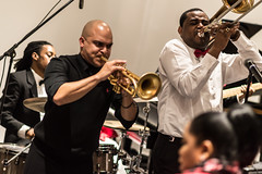Irvin Mayfield and Glen David Andrews at Irvin Mayfield's 37th Birthday Party, New Orleans Jazz Market, Sunday, December 21, 2014