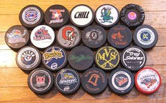 Ohio Hockey Pucks (BranMan32) Tags: blue columbus ohio green hockey stars nhl state miami cincinnati jets troy lizard toledo kings valley osu bowling junior roller ahl cyclones echl buckeyes swords gems chill jackets falcons dayton owls bombers hawks wcha bgsu sabres fhl ccha cbj ihl ushl demonz mlrh wlleye