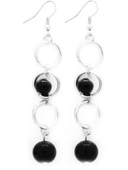 5th Avenue Black Earrings P5110-2