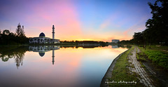 path (azrudin) Tags: light panorama ray mosque lakeside uniten graduatedfilter rgnd