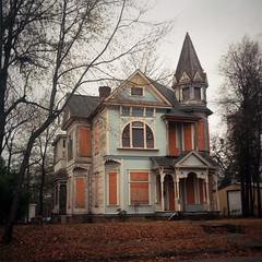 A.H. Whitmarsh House, Texarkana (deatonstreet) Tags: 120 film architecture kodak queenanne victorian historic arkansas 100 automat texarkana flexaret ektar