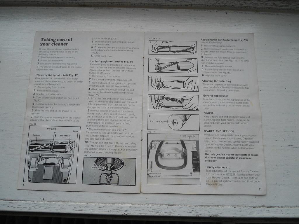 instruction manual for hoover carpet cleaner
