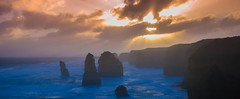 Remains of the Twelve Apostles (notSoDullPhotography) Tags: ocean blue light sunset sky cliff cloud sun storm black beach water weather rock clouds rocks waves australia melbourne victoria twelveapostles bestofaustralia