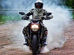 Burn rubber. (driver Photographer) Tags: honda ktm triumph motorcycle yamaha driver suzuki daytona ducati motoguzzi kawasaki leathers buell aprilia simson cagiva husqvarna dainese bmv