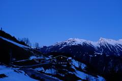 Blue moment at Astegg, Zillertal (Olli Ronimus) Tags: sunset alps austria mayrhofen finkenberg bluemoment astegg x100t