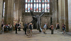 Golgotha: The Thief (pefkosmad) Tags: sculpture art public cross cathedral modernart exhibition gloucestershire gloucester publicart crucifixion davidmach gloucestercathedral golgotha thethief hdreffect crucible2