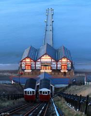 Saltburn Pier (Dave Snowdon (Wipeout Dave)) Tags: longexposure sea lights evening coast saltburn northeastengland clifflift saltburnpier redcarandcleveland wipeoutdave canoneos1100d davidsnowdonphotography djs2015