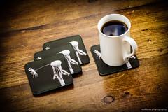 Coffee Break (redfibres) Tags: coffee canon table eos break head seed dandelion mug coaster printed porcelain personalised ef70200mmf4lisusm 1000d wwwstickapiconitcouk stickapiconit