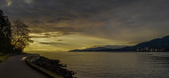Seawall Sunset (vidchen) Tags: park sunset vancouver north columbia seawall northshore stanley british