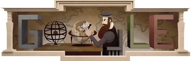 #Doodle do #Google de hoje: GERARDUS MERCATOR's 503rd Birthday http://ift.tt/1B6Iqww