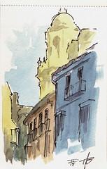 malaga-catedral (Tim Becker) Tags: ink watercolor sketch usk mlaga