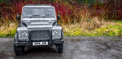 Land Rover Defender.. (CWhatPhotos) Tags: four wheel drive landrover land rover defender grey charcol off road vehicle photographs photograph pics pictures pic picture image images foto fotos photography artistic cwhatphotos that have which contain canon dslr 5d mk mark 3 iii coniston lake district uk lancashire cloudy day february cold cumbria thelakedistrict flickr