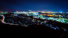 PhoTones Works #6440 (TAKUMA KIMURA) Tags: city fab night landscape town scene 夜景 complex 風景 omd okayama kimura 街 景色 町 岡山 コンビナート takuma 琢磨 mizushima 木村 水島 photones em5mark2