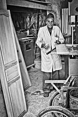 Geppetto (Enrique Pratas) Tags: wood bw tunisia carpenter geppetto carpintero tunez enriquepratas