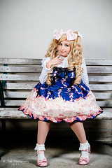 Lolita Fashion by Babydoll Ely (btsephoto) Tags: park portrait anime fashion lens 1 costume picnic texas fuji play cosplay iii flash houston x lolita r convention babydoll pro ely fujifilm fujinon con hermann conservancy f12  xf 2015 56mm xpro1 yongnuo yn560