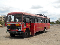 MSRTC Bus resting near Shirdi bus stand (gouravshinde94) Tags: msrtc bus shirdi kalvan